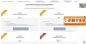 homepage site de notre entreprise d'assainissement
