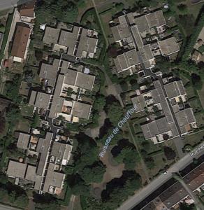Curage canalisation résidence Essonne, vue aérienne du site