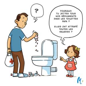 image débouchage toilette médicament