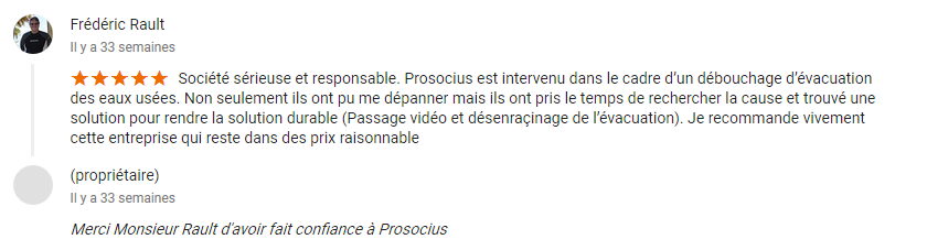 avis Mr Rault google Prosocius Assainissement