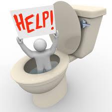 débouchage toilette image
