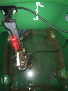 installation fosse de relevage pehd avec rail d'extraction