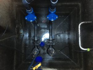 l'installation d'une pompe