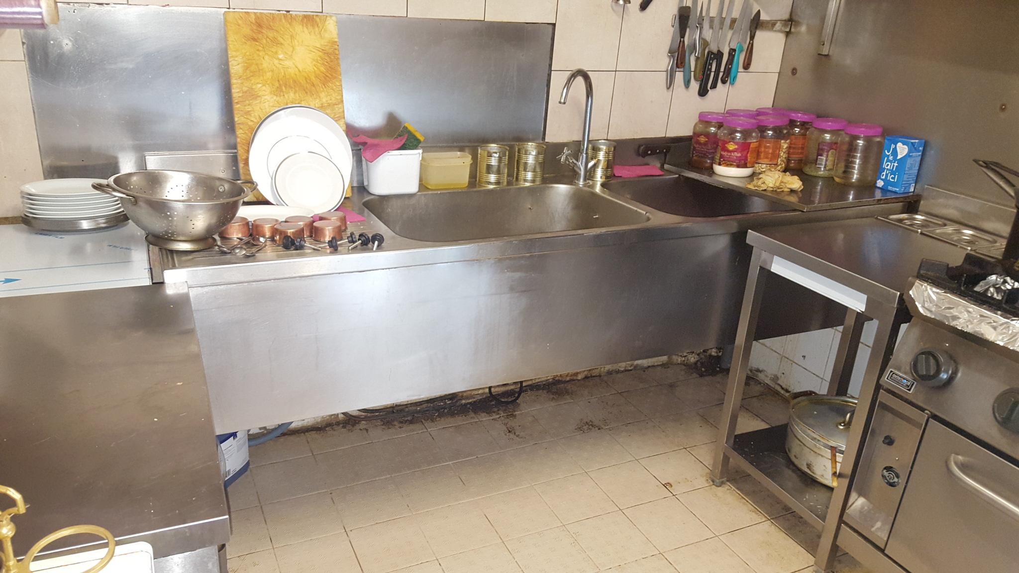 Photo évier cuisine avant installation bac à graisse