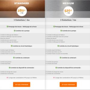 liste de prix entretien pompe de relevage