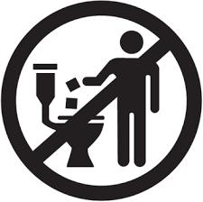 ne rien jeter dans les toilette