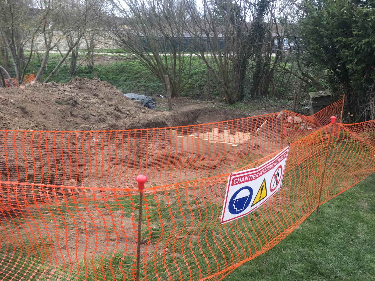 Blindage et sécurisation du trou de la Fosse de relevage Prosocius chantier sécurisé