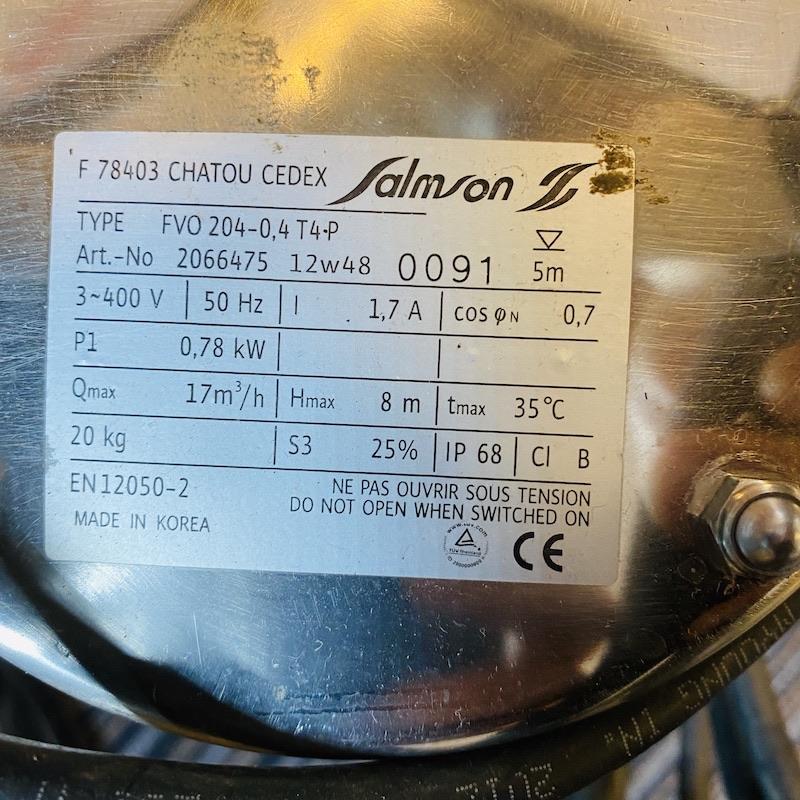 Plaque Salmson FVO 204-0,4 T4 P